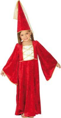 Kostüm Burgfräulein mit Hut Gr. 116 Mädchen Kinder