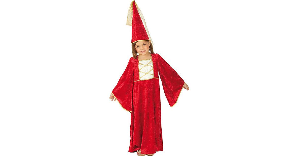 Kostüm Burgfräulein mit Hut Gr. 116