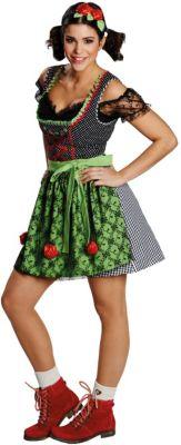 Kostüm Funny Dirndl (Erw.) Gr. 38 Mädchen Kinder