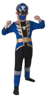 Kostüm Power Ranger Blue Super Mega Force Gr. 140/152 Jungen Kinder
