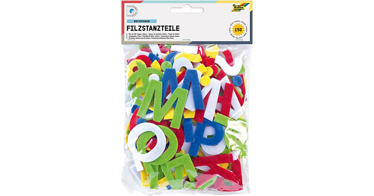 Filz-Stanzteile Buchstaben selbstklebend, 150 Stück