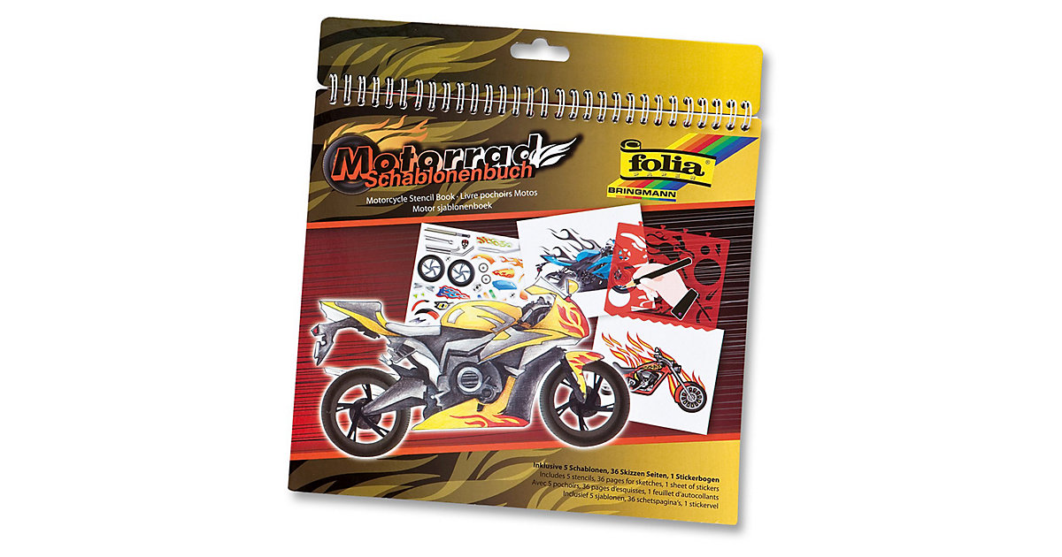 Schablonenbuch Motorrad, inkl. Sticker