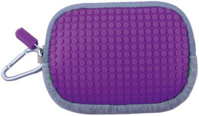Маленькая пиксельная сумочка Pixel Cotton Pouch WY-B006, фиолетовый