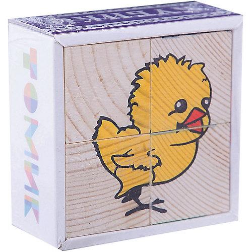 """Кубики """"Животные"""", 4 штуки, Томик от Томик"""