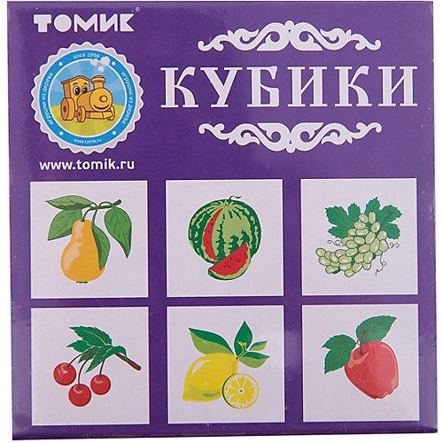 """Кубики """"Фрукты-ягоды"""", 4 штуки, Томик от Томик"""
