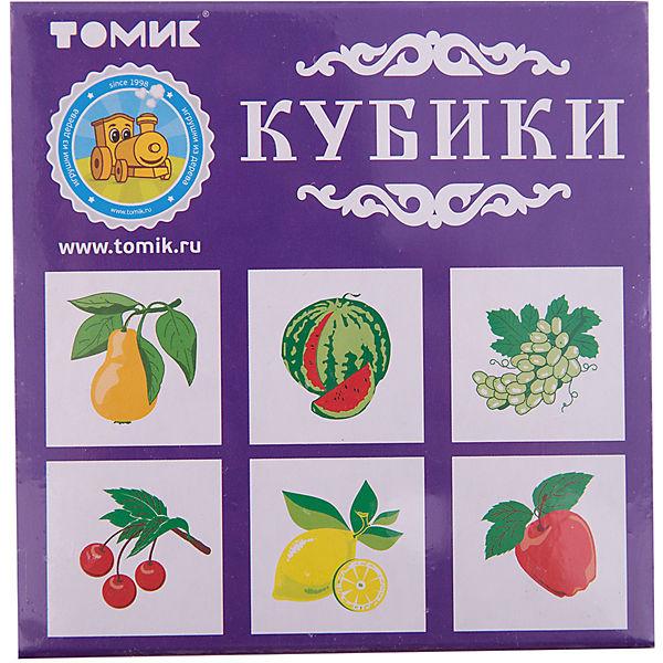 """Кубики """"Фрукты-ягоды"""", 4 штуки, Томик"""