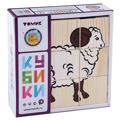 """Кубики """"Домашние животные"""", 9 штук, Томик от Томик"""