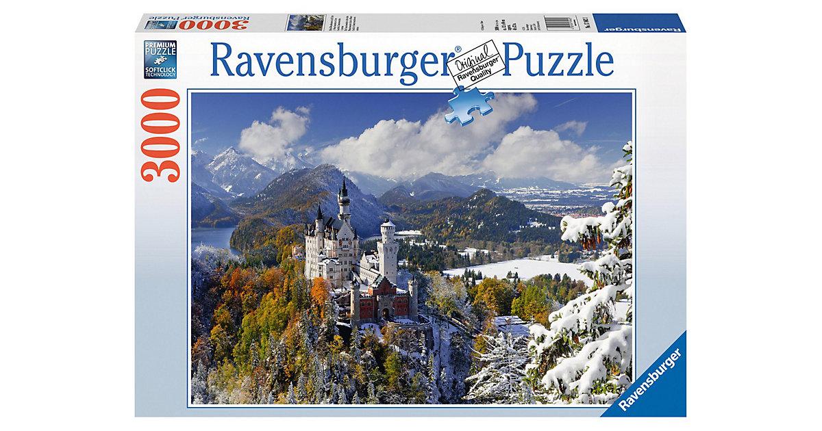 Ravensburger · Schloß Neuschwanstein im Winter 3000 Teile