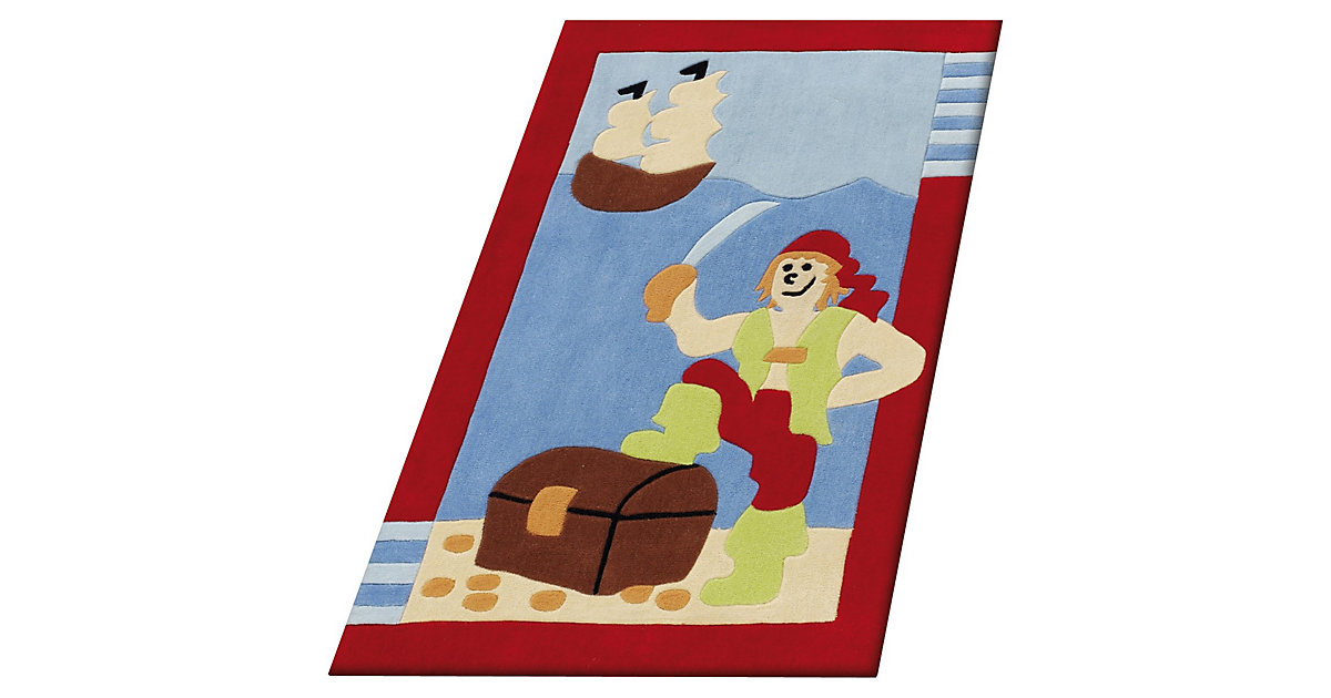 Kinderteppich Pirat mehrfarbig Gr. 80 x 150