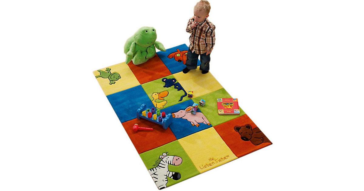 Kinderteppich Die Lieben Sieben Karo Gr. 80 x 150