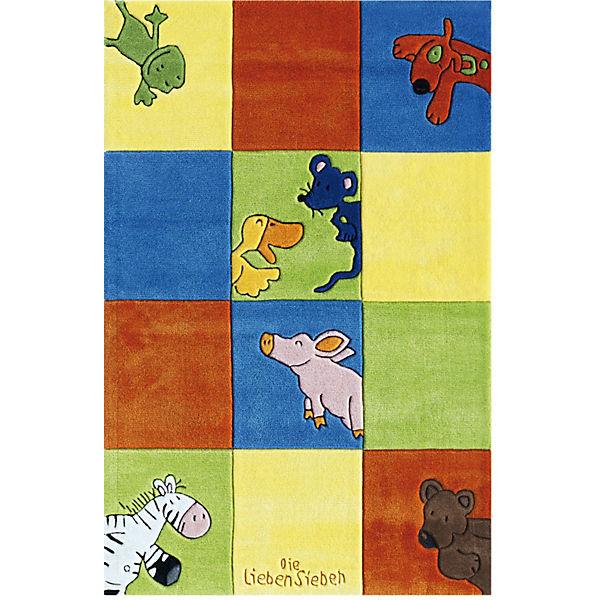 Kinderteppich die lieben sieben  Kinderteppich Die Lieben Sieben Karo, Die lieben Sieben | myToys