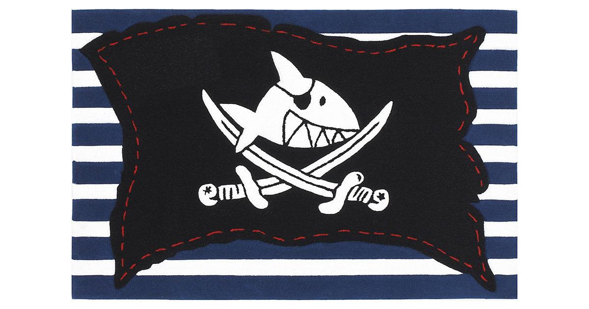 Spiegelburg · Kinderteppich Capt´n Sharky Piratenfahne gestreift Gr. 150 x 220