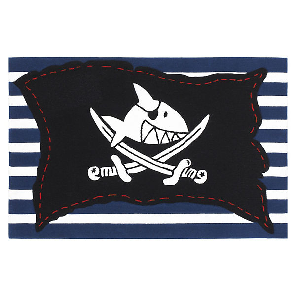 kinderteppich capt 39 n sharky piratenfahne gestreift capt n sharky mytoys. Black Bedroom Furniture Sets. Home Design Ideas