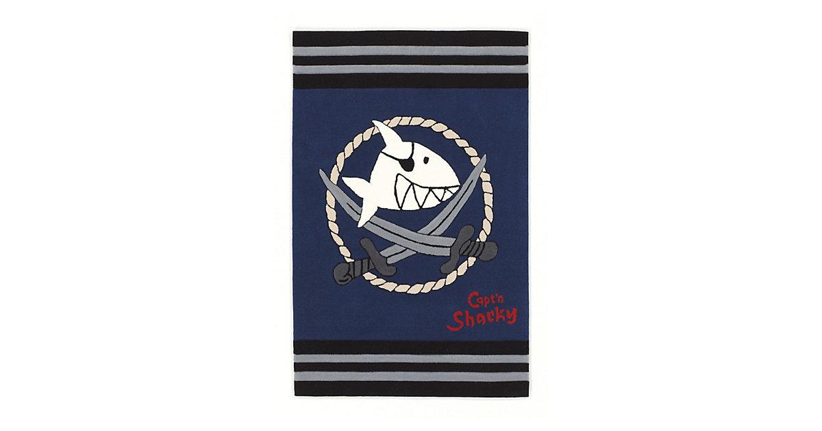 Spiegelburg · Kinderteppich Capt´n Sharky dunkelblau Gr. 150 x 220