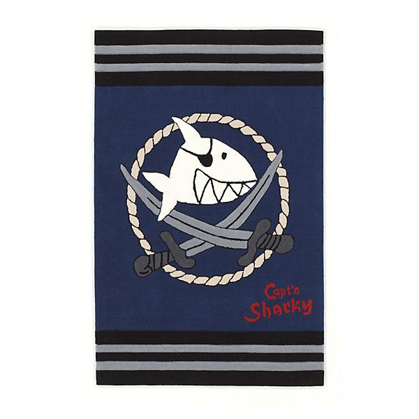 Kinderteppich dunkelblau  Kinderteppich Capt'n Sharky dunkelblau, Capt´n Sharky | myToys