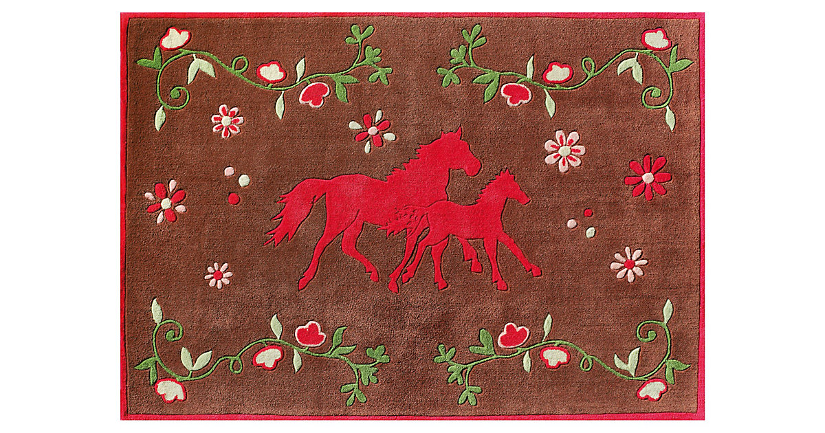 Spiegelburg · Kinderteppich Pferdefreunde Quer Gr. 150 x 220