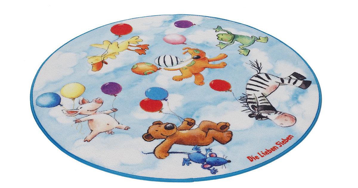 Kinderteppich Die Lieben Sieben rund hellblau Gr. 100 | Kinderzimmer > Textilien für Kinder > Kinderteppiche | Spiegelburg