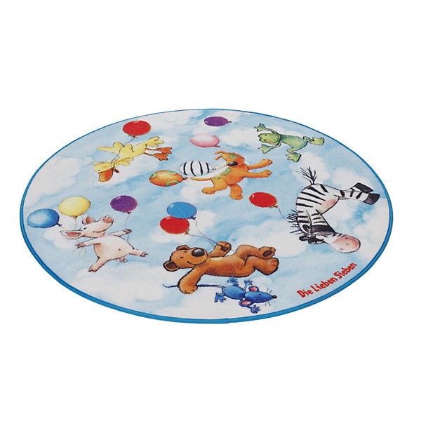 Kinderteppich die lieben sieben  Kinderteppich Die Lieben Sieben rund, Die lieben Sieben | myToys