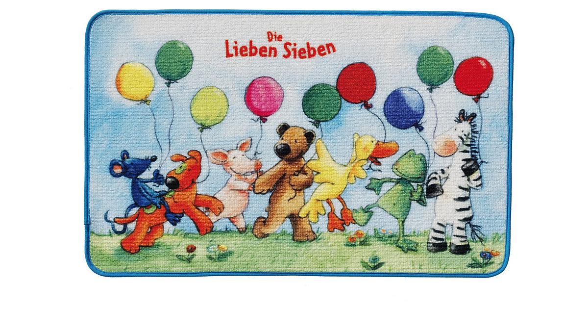 Schmutzfangmatte Die Lieben Sieben, 50 x 80 cm hellblau