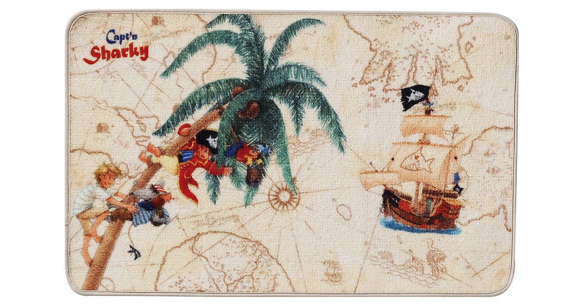 Schmutzfangmatte Capt`n Sharky, 50 x 80 cm beige