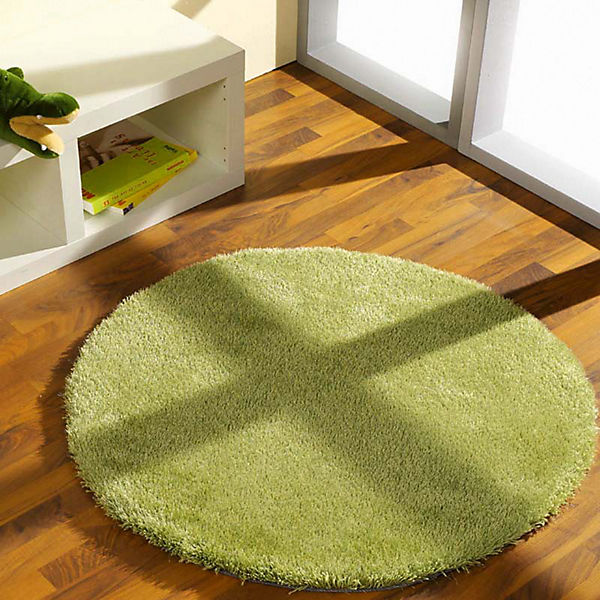 Kinderteppich grün rund  Teppich Shaggy rund, grün, 100 cm, | myToys