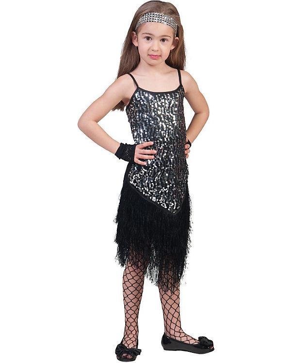 Kostüm silber Glitter Dress, Funny Fashion