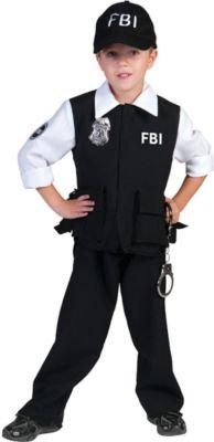Kostüm FBI Jungen Gr. 152 Jungen Kinder
