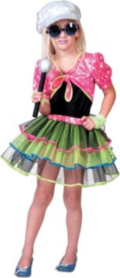 Kostüm Rockstar Girl Gr. 128 Mädchen Kinder