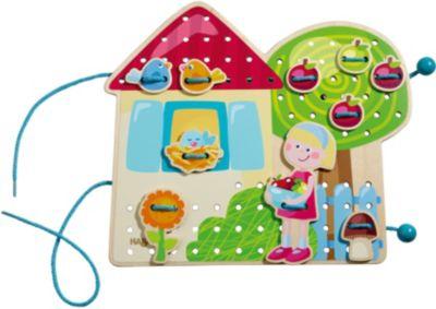 HABA 301125 Fädelspiel Gretas Gartenhaus