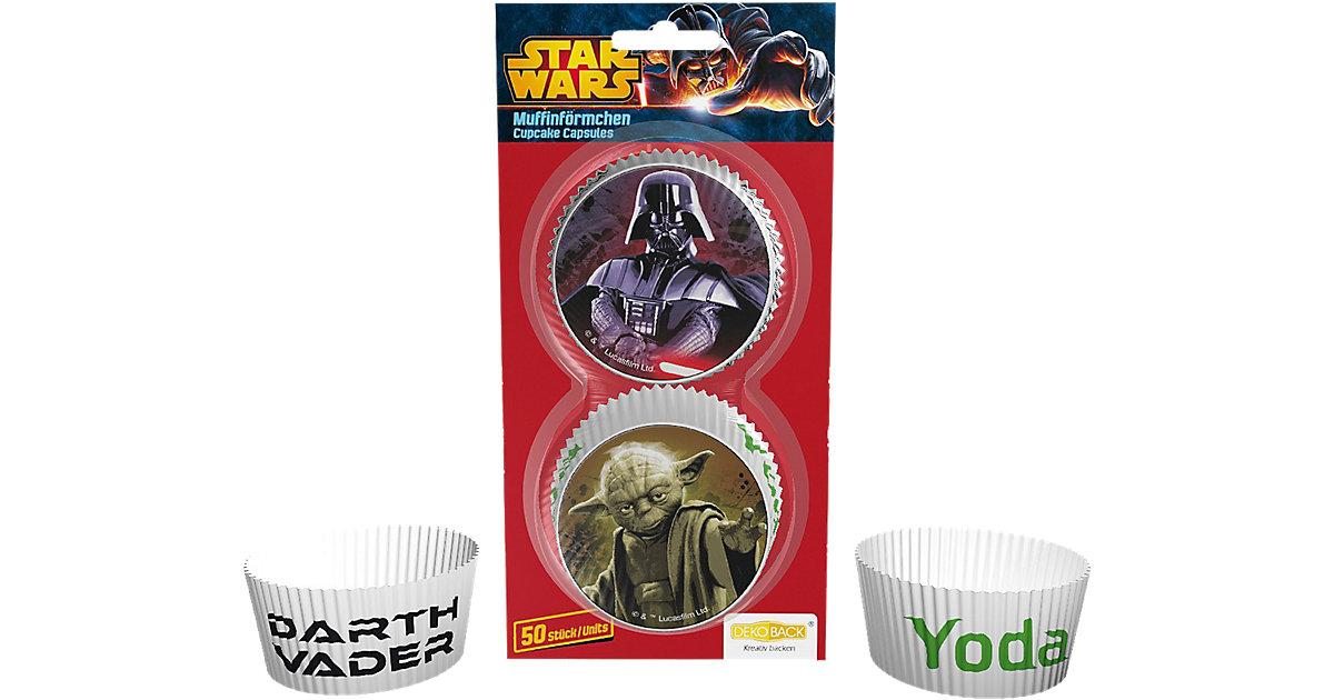 Muffinförmchen Star Wars, 50 Stück mehrfarbig