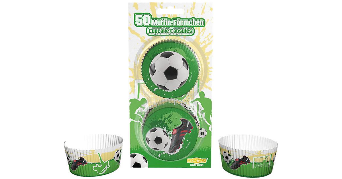 Muffinförmchen Fußball, 50 Stück grün