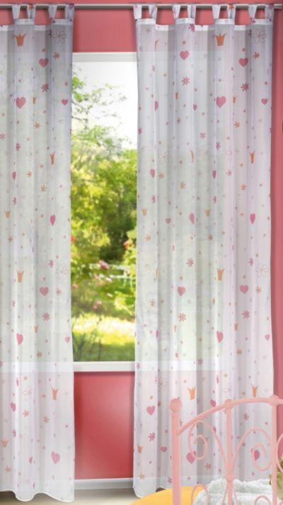 Vorhänge München gardine prinzessin 245 x 140 cm 1 schal mytoys