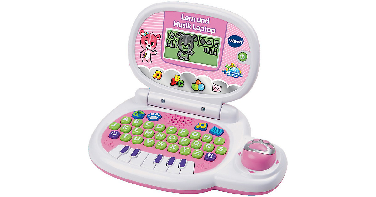 Lern und Musik Laptop, pink