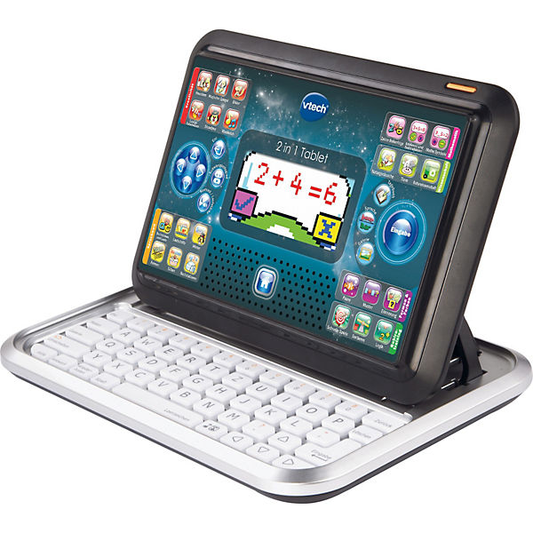 2-in-1 Tablet & Laptop, silber