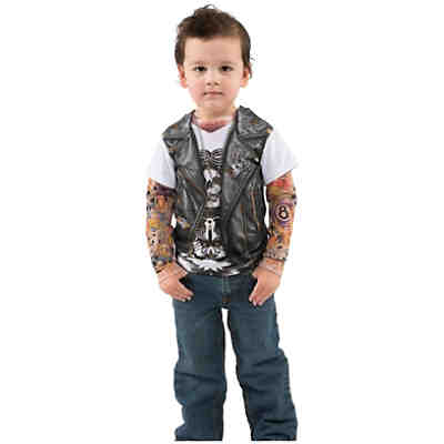 3D T-Shirt Biker mit Tattoo