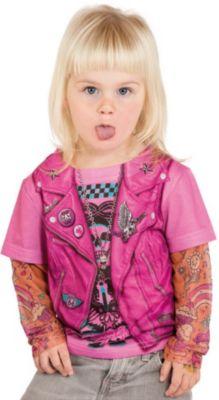 3D T-Shirt Bikerin pink Gr. 110/116 Mädchen Kleinkinder