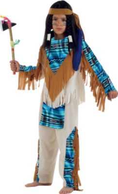Kostüm Indianer Blauer See Gr. 152/158 Jungen Kinder
