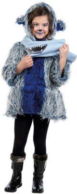 Mantel und Schal Monster Gr. 116/128 Mädchen Kinder