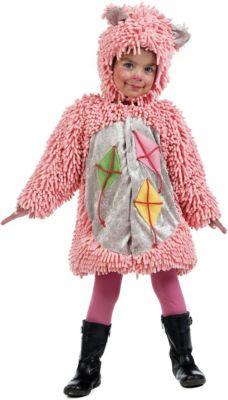 Kostüm Rosa Bär mit Drachen Gr. 104/110 Mädchen Kleinkinder