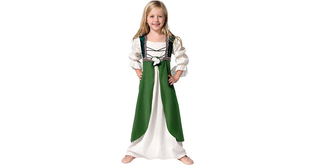 Kostüm Mittelalterliche Hortensia grün Gr. 140/152 Mädchen Kinder