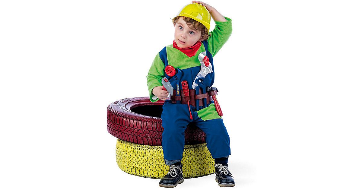 Kostüm Mechaniker blau/grün Gr. 92 Jungen Kleinkinder