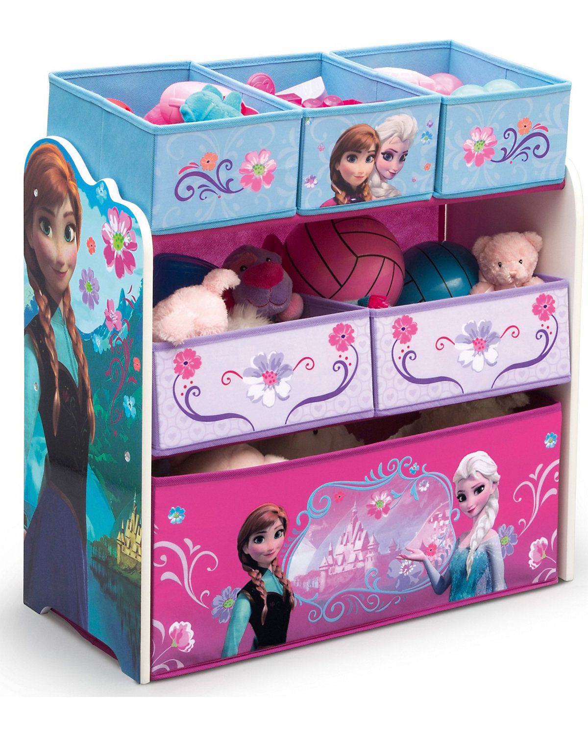 6 boxen regal die eisk nigin disney die eisk nigin mytoys. Black Bedroom Furniture Sets. Home Design Ideas