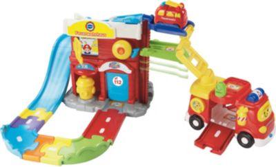Tut Tut Baby Flitzer - Spielset Feuerwehrhaus + Feuerwehrauto - Exklusiv