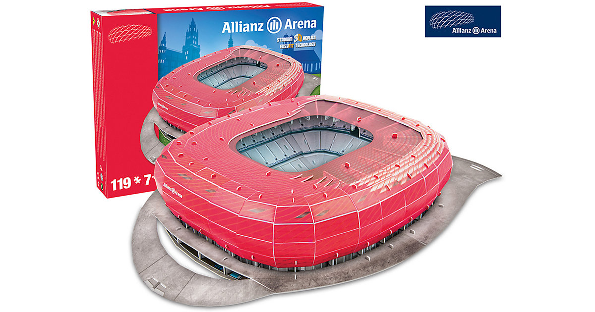 3D Stadion-Puzzle Allianz Arena München