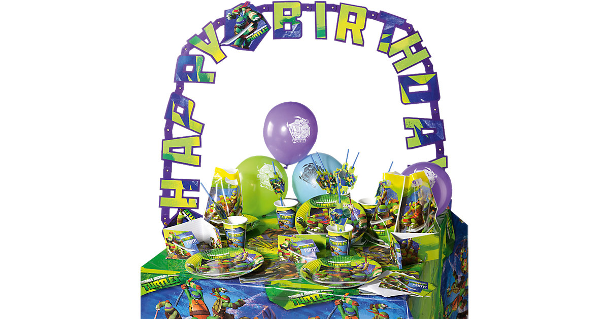 Partyset Teenage Mutant Ninja Turtles, 64-tlg.