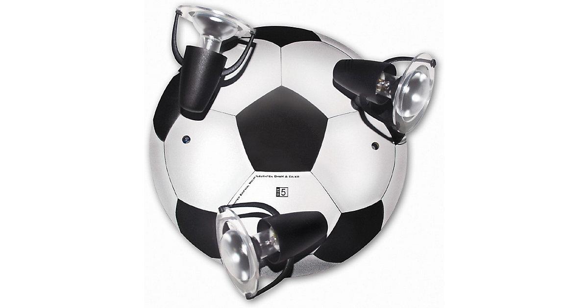 Waldi · WALDI Deckenleuchte Fußball, schwarz/weiß 3-flg., R50 max. 3x9W/E14