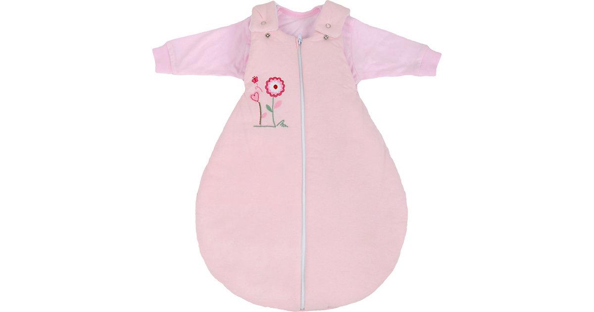 Schlafsack mit Innensack, 2-teilig, Blume rosa Gr. 56/62