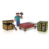 Фигурка с набором для выживания, 8 см, Minecraft