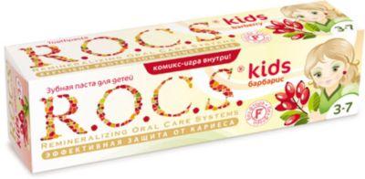 Детская зубная паста Барбарис, R.O.C.S. Kids, 3-7 лет, 45г.