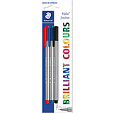 Капиллярная ручка Triplus Liner, синий, черный, красный, Staedtler